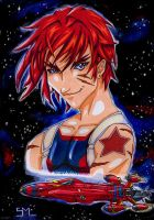Gene Starwind and Outlaw Star by SMLtheGRartist