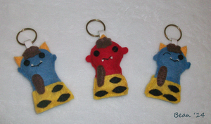 Oni Keychains by beanchan