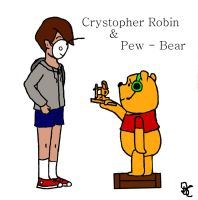 Crystopher robin and pew-bear by BambioSaurus