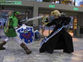 Roxas VS Link by GingerAnneLondon