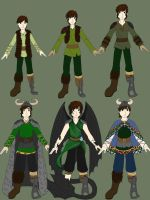 'Ablaze' Hiccup designs by CessieRose25