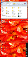 Win8 Consumer preview charmsbar for XP Vista Win7 by PeterRollar
