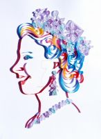 Quilled Portrait of the Queen by LeonieIsaacs