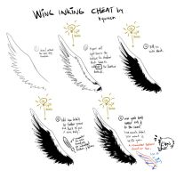 B/W Wing inking cheat for Black wings by ryuuen