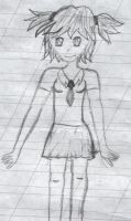 Girl in anime style +sketch+ 3 by DollVooDoo