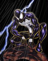 Black Costumed Spidey Colored by SlyAguilar