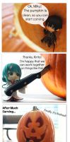 Figure Comic: Pumpkin carving by Yami-Usagi