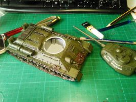 T-34 in progress lacquering by rihosk