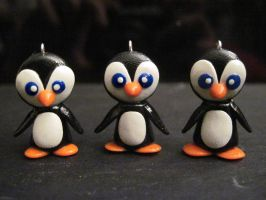 Cutie Penguin Charms by Blazesnbreezes