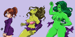 SHE HULK TRANSFORMATION by AnyaUribe