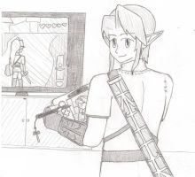 Link and Wii-U by Nintendraw