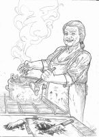 Grandma is cooking! A4 - pencil by IgorChakal