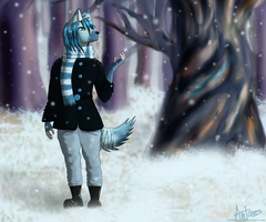 .art trade. First Snow by AntaresIceslayer