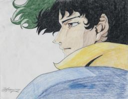 Cowboy Bebop_Spike Pensive by BlueFrog597