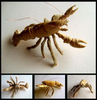 Crayfish Carving Unpainted by Zillaan