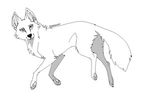 Wolf lineart by Kipine