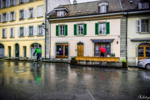 Rainy colors in Carouge by Rikitza