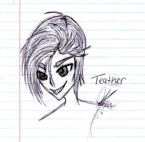 New OC Teather sketch by XPockyDemonX