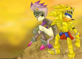 King Sonic and Sir Percival by DaisyHedgehog123