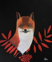 Portrait of a red fox by Wolverica