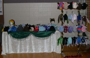 Holiday Market Booth Setup by kittyhats