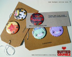 Buttercrumble Badges by Abblecrumble