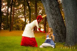 Alice meets the Queen of Hearts by Nivelis