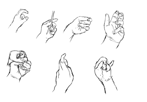 Hand Sketches 1 by radstylix