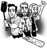 Shaun of the Dead Sketch by DorkZombie