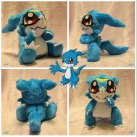Commission: Veemon PuzzCutie by CoffeeCupPup