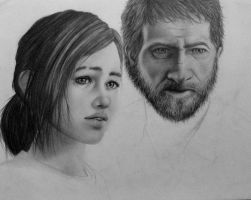 The Last of Us: Ellie and Joel by CHOP47