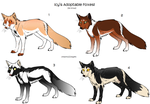 Fox Adoptables Group One by xIcy-Firex
