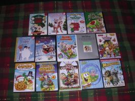 My Christmas DVD Collection by nintendomaximus