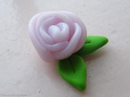 First Attempt With Fimo: Pink Rose by SakuraSculpture