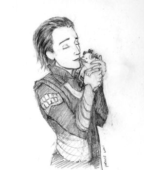 Prince Loki and the (tumblr) frog by beebeesquee
