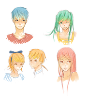 Vocaloid Faces by Duduru