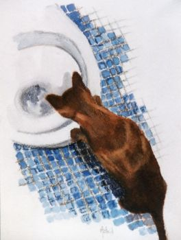 The Watering Hole - Watercolour Painting by AstridBruning