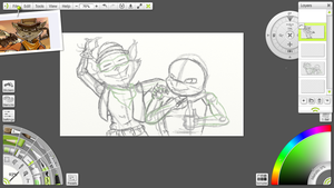 ~WIP~ Job Well Done Ft. Tennessee and Raphael by DarkRyuRose