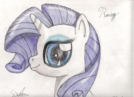 Rarity (Facial sketch) by I-TwistedFury-I