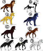wolf point adoptables by Ahiku-wolf