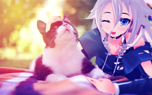 Ia with cat by RiStarr