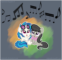 Chibi Vinyl and Octavia by StePandy