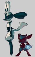 Ritz and Lolita redesigns by IncoMpleTeSTAR