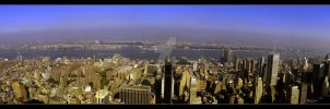 panorama of New York City by budislav