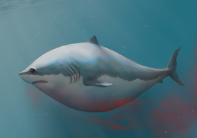 The Sad Obese Shark by CoreyGallagher