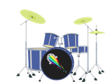 Equestria Girls Drum Kit by MAJORA64