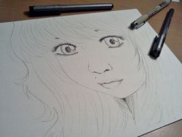 Untitled - Lineart of girl by Good-Anime