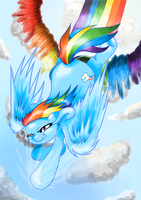 Rainbow Dashie Rainboom by DecibelDisorder3