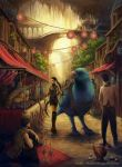 Morning Market by Wolfie-chama