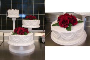 White Lace Wedding Cake by ayarel